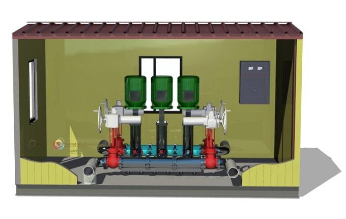 3D модель блочно-модульной